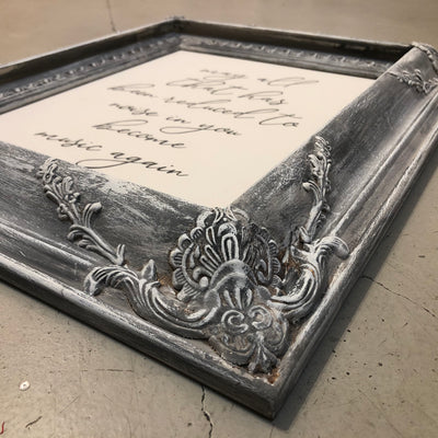 "Reclaimed Frame ""Become Music Again"""