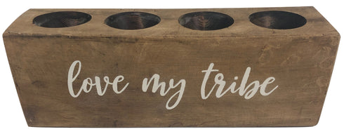 "4 Hole Sugar Mold - ""Love My Tribe"""