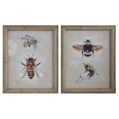 Bees Framed Canvas Print