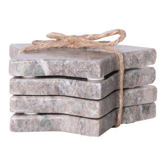 Marble Star Coasters, grey