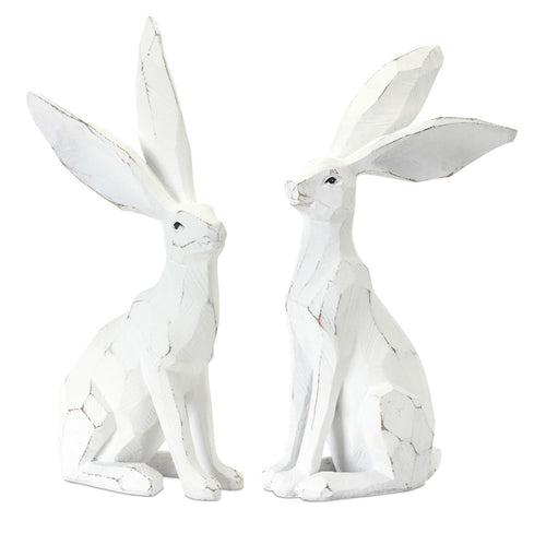 White Resin Rabbit