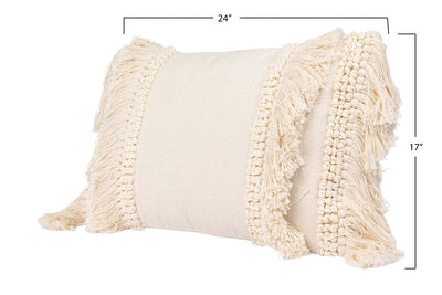 Pillow, Chenille with Fringe