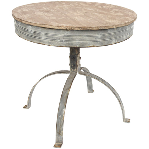 Round Table Metal/Wood Antique finish