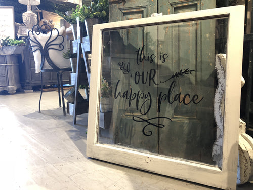 "Window Black ""This is Our Happy Place"""