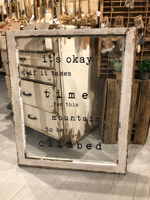 "Window Black ""It's Okay If It Takes Time"""