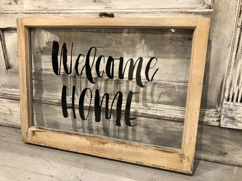 "Window Black ""Welcome Home"""