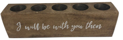 "5 Hole Sugar Mold - ""I Will Be With You Then"""