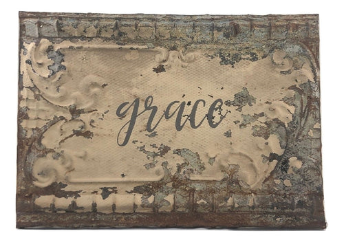 "Vintage Rectangle Tin - Large ""Grace"""