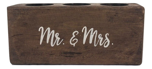 "3 Hole Sugar Mold - ""Mr. & Mrs."""