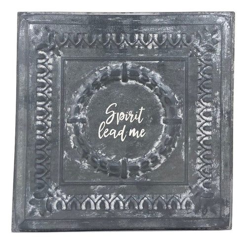 "Square Tin - Medium w/ No Frame ""Spirit Lead Me"""