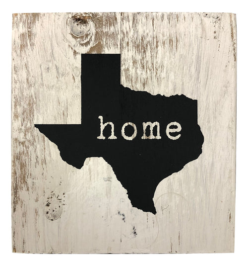 "Wood Block ""Home"" Texas"