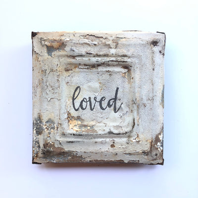 "Vintage XS Tin ""Loved"""
