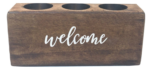 "3 Hole Sugar Mold - ""Welcome"""