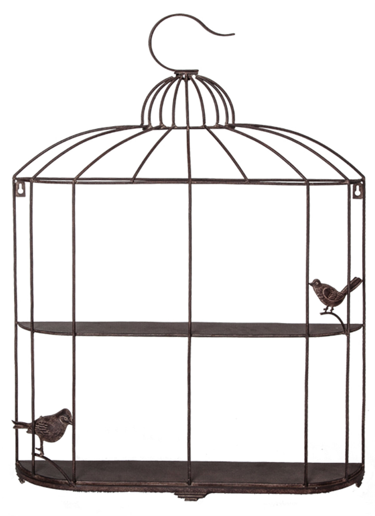 Metal Rustic Bird Cage Shelf