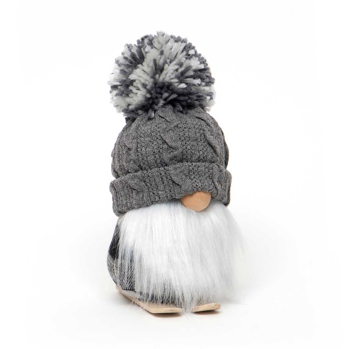 Gnome with Grey Pom Pom Hat (small)