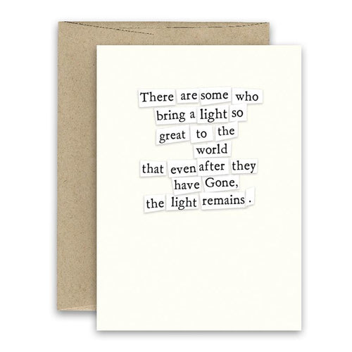 Simply Put Greeting Card - Light Remains