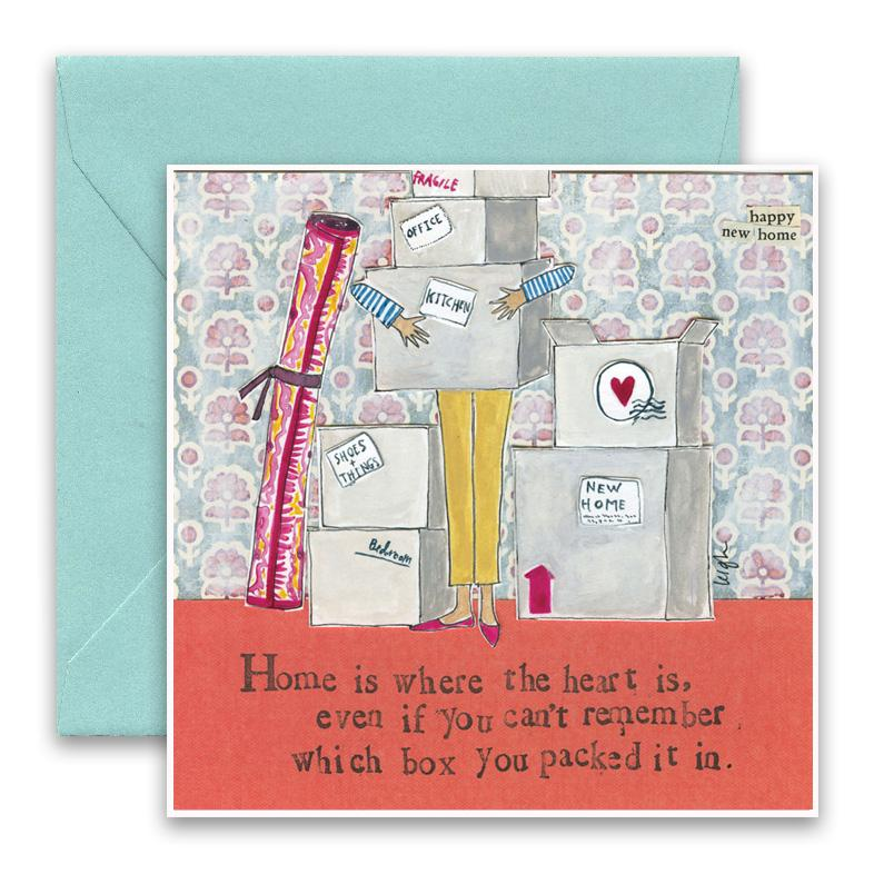 Greeting Card - Home Is Where