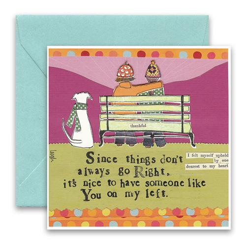 Greeting Card - On My Left