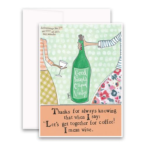 Greeting Card - Mean Wine