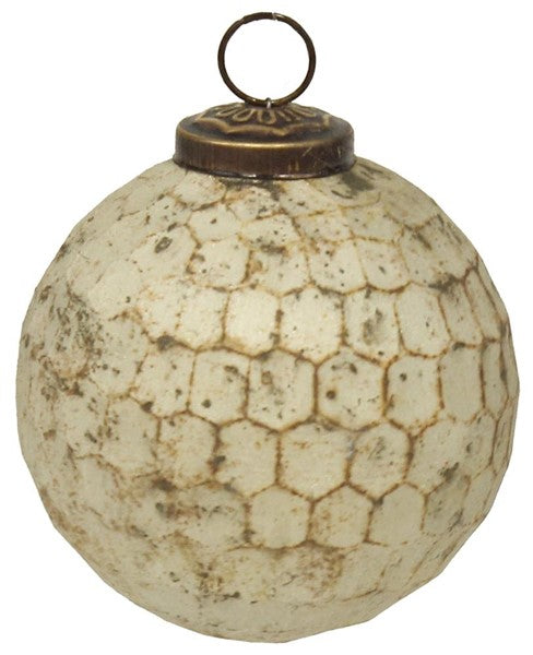 Glass Beehive Ball Ornament (small)