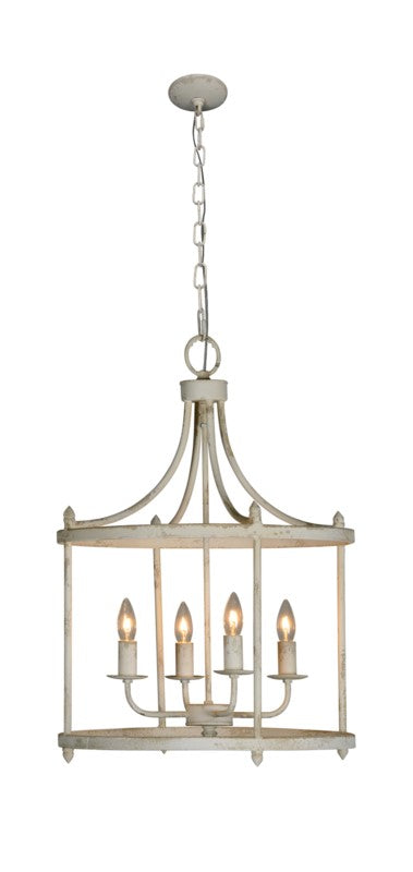 Durrant 4-Light Chandelier WHITE