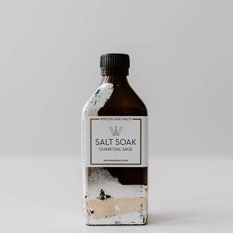 Salt Soak, large - Charcoal Sage