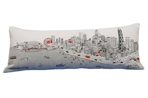 Chicago Queen Day Pillow