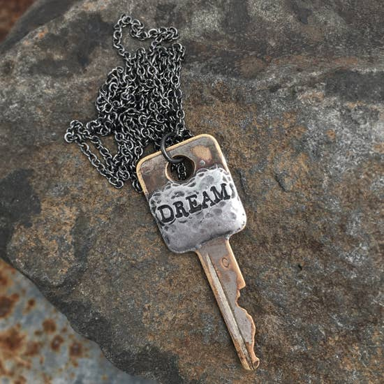 Solder Recycled Key Necklace - Dream