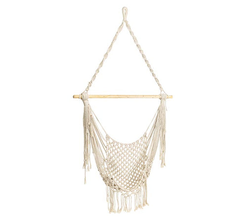 Hanging Macrame Chair with Tassels