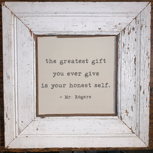 "Vintage Architectural Frame ""The Greatest Gift..."""