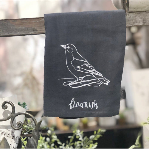 "Tea Towel: Bird ""Flourish"""