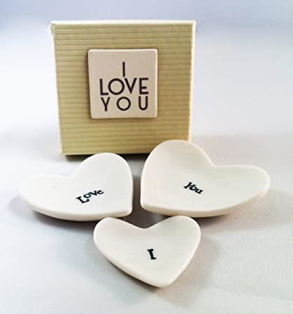 I Love You Stackable Hearts - (3)