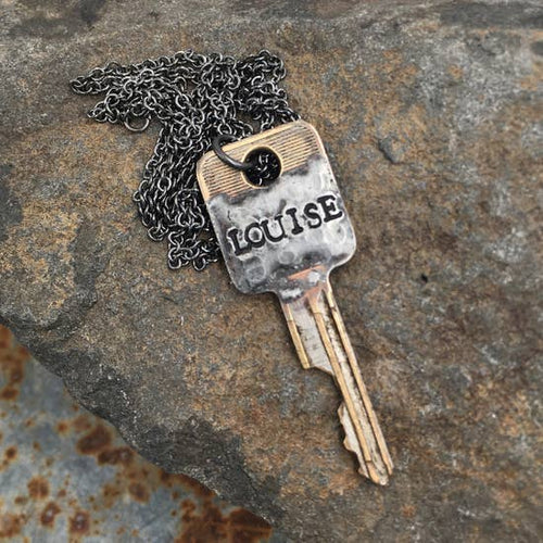 Solder Recycled Key Necklace - Louise
