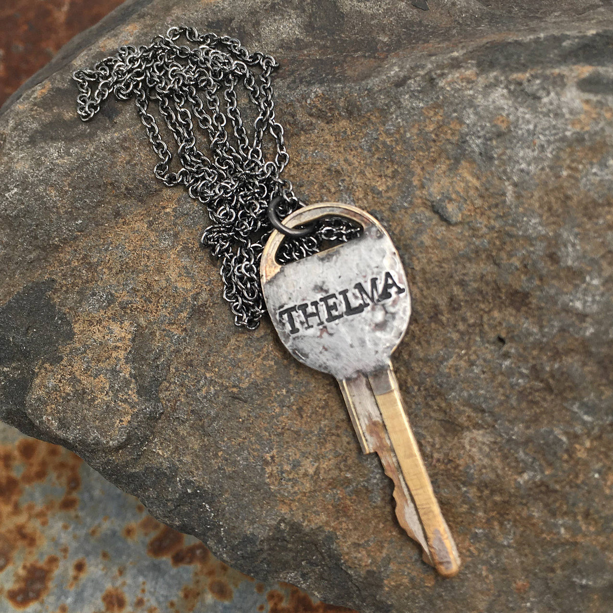 Solder Recycled Key Necklace - Thelma