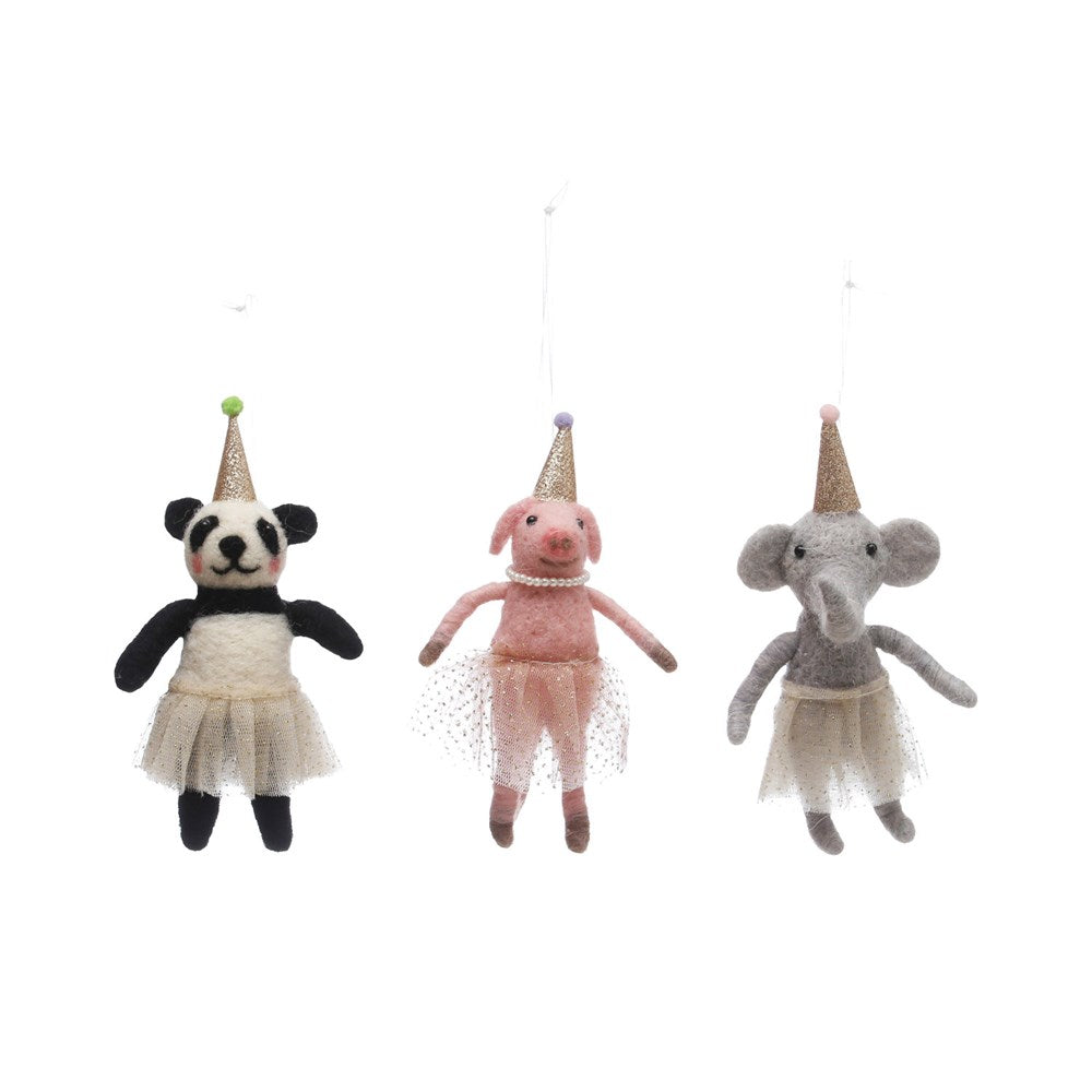 Animal Ornament with Party Hat