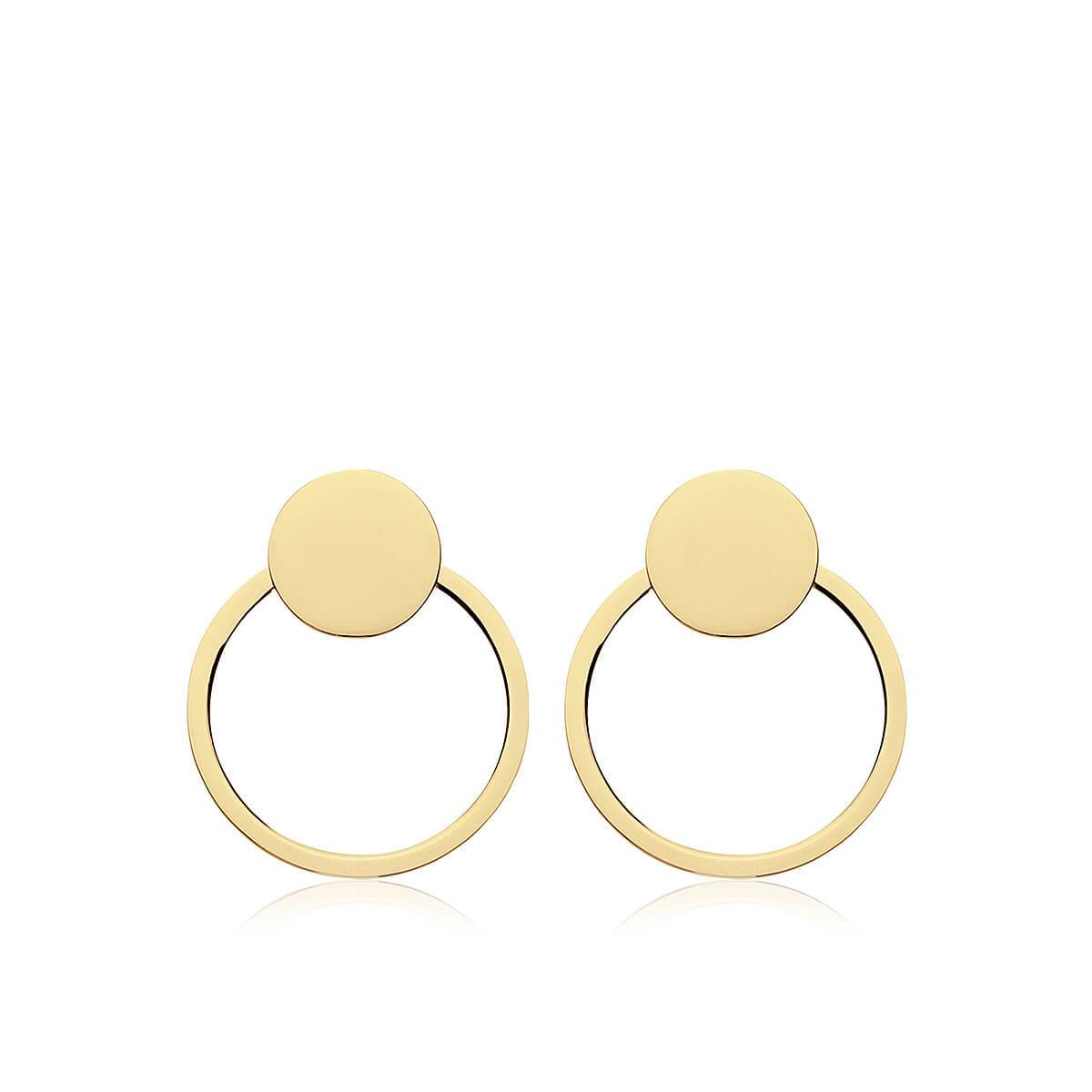 Pendientes CIRCLE GOLD · 2 en 1 · - Olivia Olash
