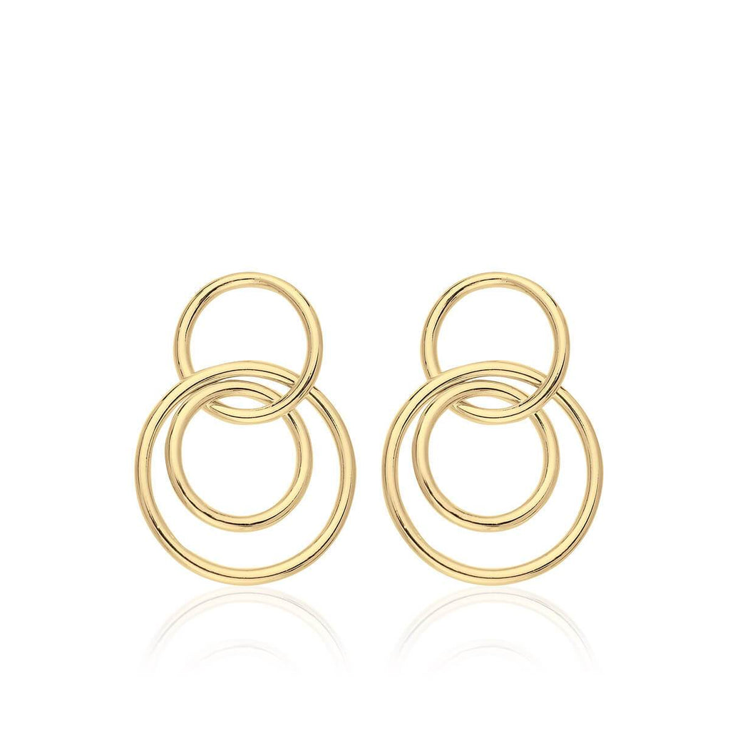 Pendientes de plata CHOICES 3 RINGS GOLD - Olivia Olash