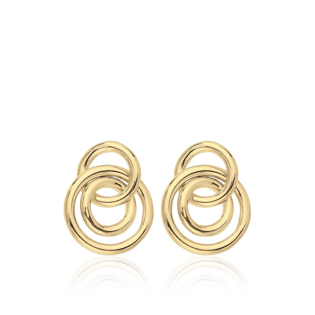 Pendientes MINI CHOICES 3 RINGS GOLD - Olivia Olash