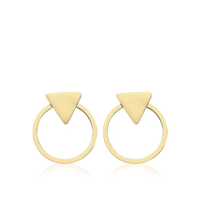 Pendientes TRIANGLE GOLD · 2 en 1 · - Olivia Olash
