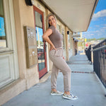 Load image into Gallery viewer, Chill Babe Taupe Joggers