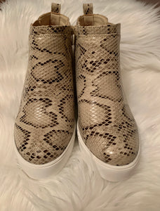 You Are The Future Wedge Sneakers, Snakeskin