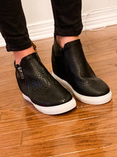 Load image into Gallery viewer, You Are Irreplaceable Wedge Sneakers, Black