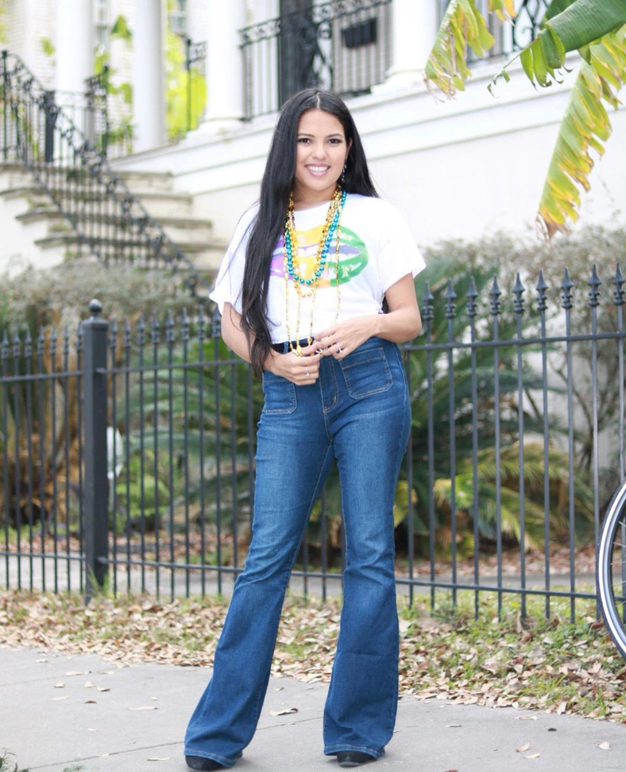 You Are Happy Flare Jeans, Denim
