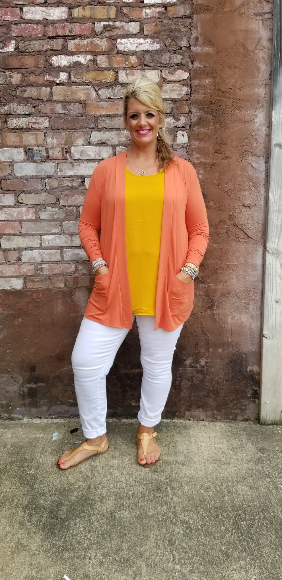 Cover Me Cardigan Orange