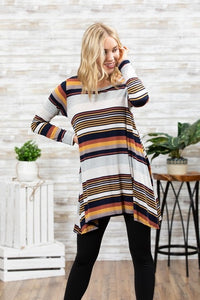 Multicolored Stripes Swing Tunic