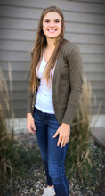 Load image into Gallery viewer, Snap Button Cardigan - Olive