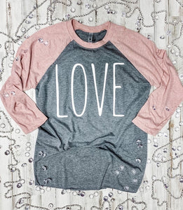 LOVE Baseball Style Shirt