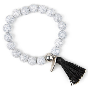 PL - Single Bead Bracelet with Tassle