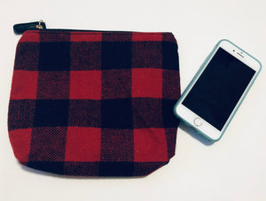 Buffalo Plaid Zipper Pouch