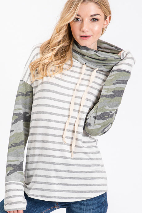 Camo and Stripes Cowl